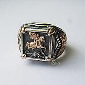 Украшения handmade. Livemaster - original item Silver ring with George the victorious. Handmade.