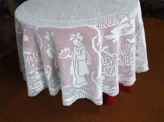 Текстиль, ковры ручной работы. Ярмарка Мастеров - ручная работа. Купить «Японские мотивы».Круглая скатерть. Handmade. Круглая скатерть