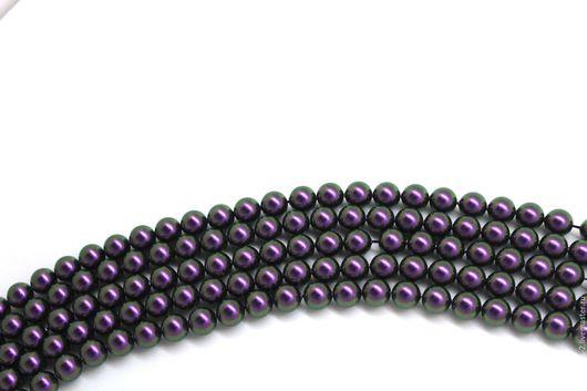Для украшений ручной работы. Ярмарка Мастеров - ручная работа. Купить Жемчуг 8мм Сваровски Iridescent Purple. Handmade.