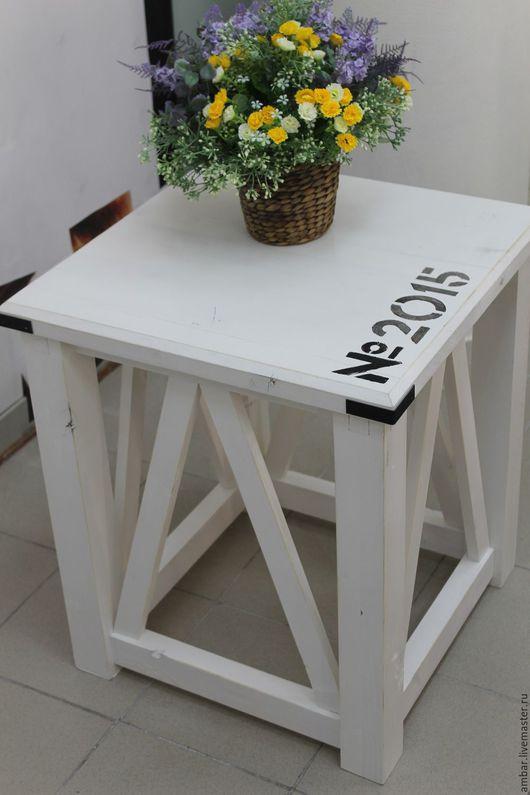 """Мебель ручной работы. Ярмарка Мастеров - ручная работа. Купить Столик """"Шебби"""". Handmade. Белый, красивая мебель, интерьер из дерева"""