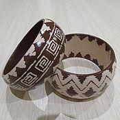 """Украшения ручной работы. Ярмарка Мастеров - ручная работа Браслеты из дерева """"Шоколад"""". Handmade."""