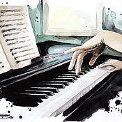 Картины и панно ручной работы. Ярмарка Мастеров - ручная работа Piano. Handmade.