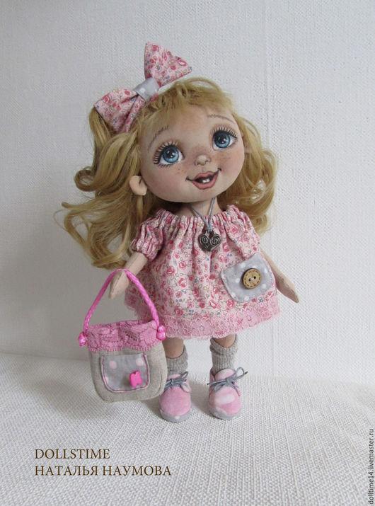 Человечки ручной работы. Ярмарка Мастеров - ручная работа. Купить текстильная кукла малышка Китти. Handmade. Розовый, подарок женщине