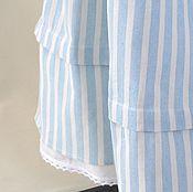 """Одежда ручной работы. Ярмарка Мастеров - ручная работа Юбочка """"Прованс"""" длинная из полосатого хлопка в стиле бохо,. Handmade."""