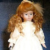 Куклы и игрушки ручной работы. Ярмарка Мастеров - ручная работа Бронь! Винтажная девочка в шикарном платье.. Handmade.