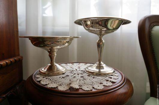 Винтажная посуда. Ярмарка Мастеров - ручная работа. Купить СЕЙЧАС 25000 руб.Две серебренные вазы, 925 проба.. Handmade.