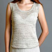Одежда handmade. Livemaster - original item 100% linen women`s classic tank top. Handmade.