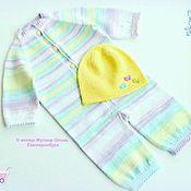 """Работы для детей, handmade. Livemaster - original item Летний комбинезон с шапочкой для новорожденного """"Карамель"""". Handmade."""