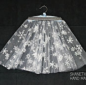 Одежда handmade. Livemaster - original item Skirt of soft tulle for girls Snowflake. Handmade.