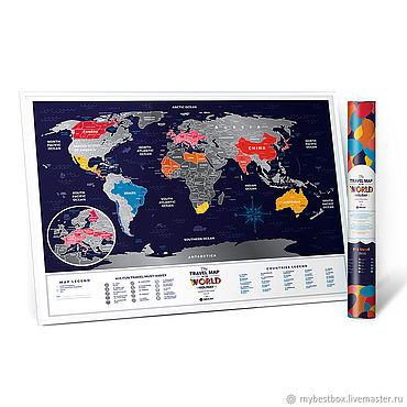 Diseño y publicidad manualidades. Livemaster - hecho a mano Mapa De Travel Map Holiday World. Handmade.