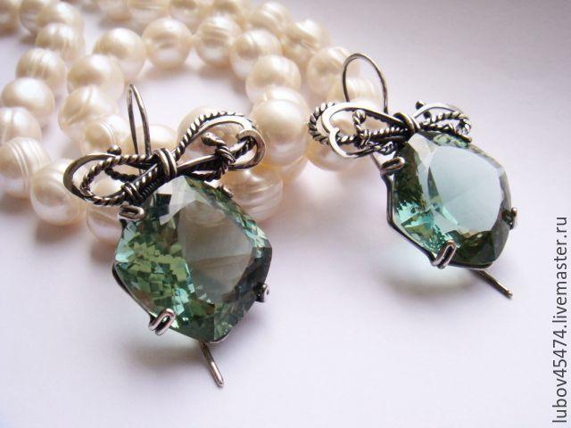 Copy of Silver earrings 925 copyrights FLOWERS, Earrings, Lyubertsy,  Фото №1