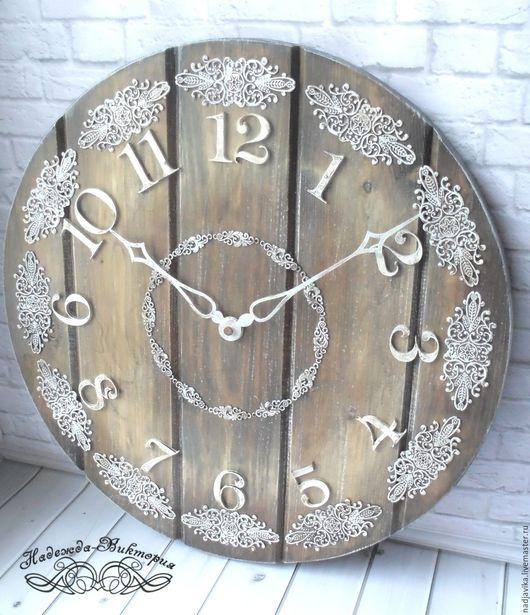 """Часы для дома ручной работы. Ярмарка Мастеров - ручная работа. Купить Часы настенные """"Кружевные чудеса"""". Handmade. Часы настенные"""