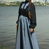 Одежда ручной работы. Ярмарка Мастеров - ручная работа Платье  с клетчатой кокеткой еще. Handmade.