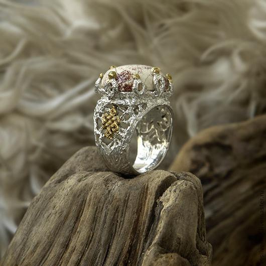 """Кольца ручной работы. Ярмарка Мастеров - ручная работа. Купить Кольцо """"Тибетский Узел"""". Handmade. Кольцо, серебро 925 пробы"""