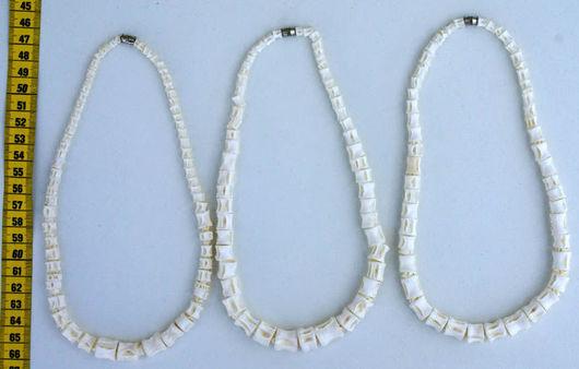 Колье, бусы ручной работы. Ярмарка Мастеров - ручная работа. Купить Индейское ожерелье из настоящих отбеленных рыбьих костей. Handmade.