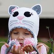 Работы для детей, ручной работы. Ярмарка Мастеров - ручная работа Шапка Киса, шапка Кошка. Handmade.