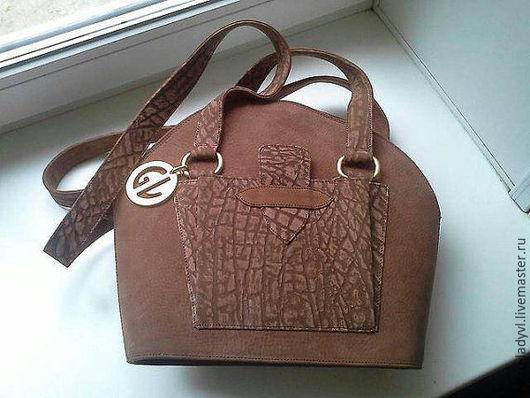 Винтажные сумки и кошельки. Ярмарка Мастеров - ручная работа. Купить сумка Guy Laroche винтаж нубук кожа. Handmade. Коричневый