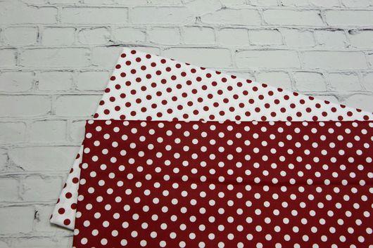 Шитье ручной работы. Ярмарка Мастеров - ручная работа. Купить Ткань хлопок красный горошек 8мм. Сатин. 100% Хлопок. Handmade.