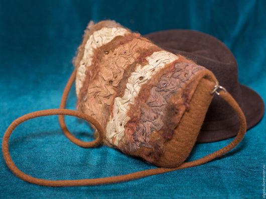 """Женские сумки ручной работы. Ярмарка Мастеров - ручная работа. Купить Валяная сумка """"Каприз"""". Handmade. Рыжая сумка"""