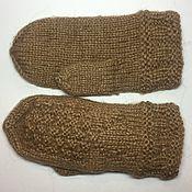 Аксессуары ручной работы. Ярмарка Мастеров - ручная работа Вязаные варежки (вязаные рукавички) из верблюжьей шерсти ручной работы. Handmade.