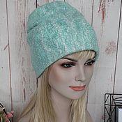 Аксессуары handmade. Livemaster - original item Women`s felted hat.Warm wool felted hat beanie Mint. Handmade.