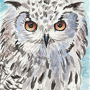 Картины и панно handmade. Livemaster - original item Long-eared owl. Handmade.