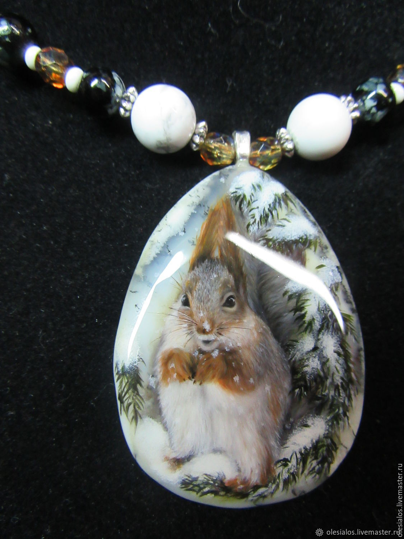 'Winter squirrel', Pendants, Biisk,  Фото №1