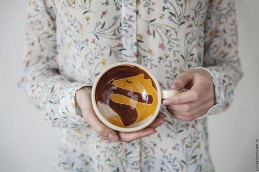 Кружки и чашки ручной работы. Ярмарка Мастеров - ручная работа. Купить Влюбленные лисицы. Handmade. Рыжий, необычный подарок