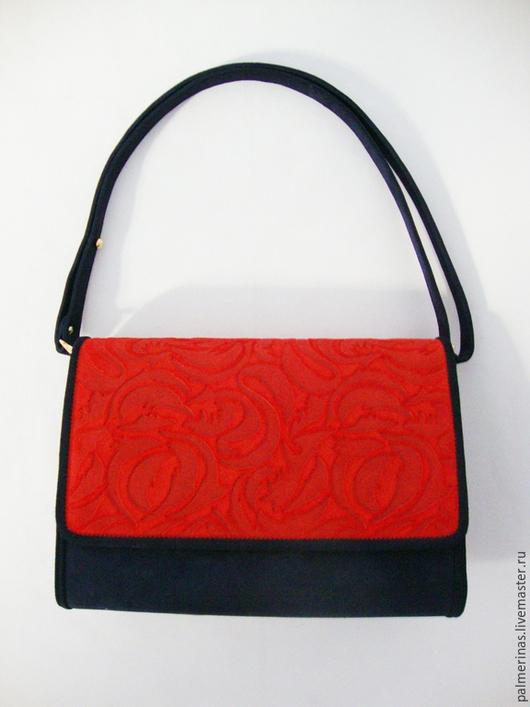 Женские сумки ручной работы. Ярмарка Мастеров - ручная работа. Купить Замшевая  стильная сумочка. Handmade. Тёмно-синий, из замши