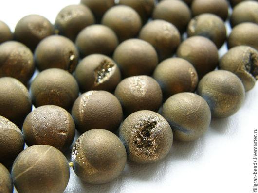 Для украшений ручной работы. Ярмарка Мастеров - ручная работа. Купить Бусины агата 10 мм с жеодами (11507), тонированные. Handmade.