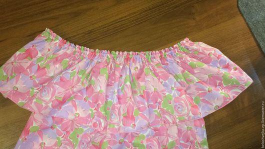 Блузки ручной работы. Ярмарка Мастеров - ручная работа. Купить Легкая романтичная летняя блузка. Handmade. Розовый