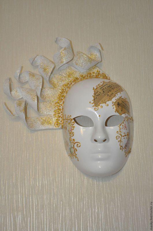 Интерьерные  маски ручной работы. Ярмарка Мастеров - ручная работа. Купить Мелодия рассвета. Handmade. Золотой, Папье-маше, лак