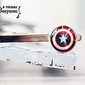 """Украшения ручной работы. Ярмарка Мастеров - ручная работа Зажим для галстука """"Капитан Америка"""". Handmade."""