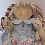 Куклы и игрушки ручной работы. Ярмарка Мастеров - ручная работа Кукла Маша и медвежонок. Handmade.
