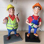 Куклы и игрушки ручной работы. Ярмарка Мастеров - ручная работа Строители. Handmade.