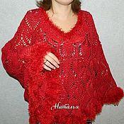 Одежда handmade. Livemaster - original item Poncho knitted
