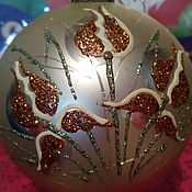 Подарки к праздникам ручной работы. Ярмарка Мастеров - ручная работа Елочный шар ИРИС. Handmade.