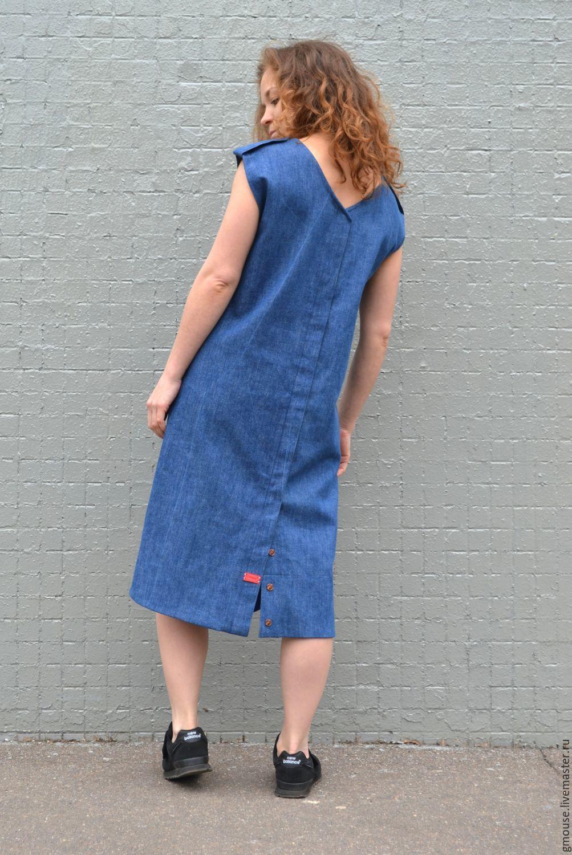 59a569243bf Платья ручной работы. Ярмарка Мастеров - ручная работа. Купить Платье -  сарафан из джинсы ...