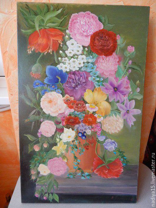"""Картины цветов ручной работы. Ярмарка Мастеров - ручная работа. Купить Картина маслом """"Багатства лета"""". Handmade. Комбинированный"""