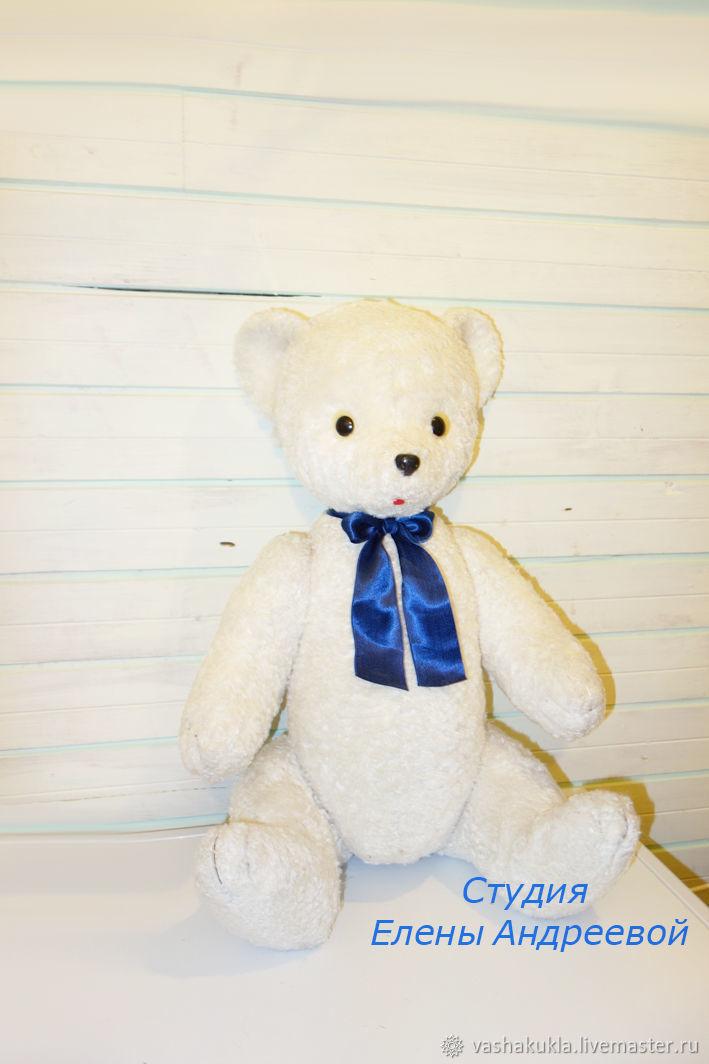 Винтаж: Реставрация игрушки белый мишка, Винтажные игрушки, Москва, Фото №1