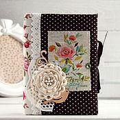 "Канцелярские товары handmade. Livemaster - original item Блокнот ""bird &rose"". Handmade."