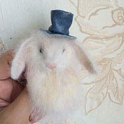 Украшения ручной работы. Ярмарка Мастеров - ручная работа Брошка крольчишка. Handmade.