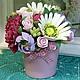 Интерьерные композиции ручной работы. Ярмарка Мастеров - ручная работа. Купить Пионы в вазе. Handmade. Розовый, цветы