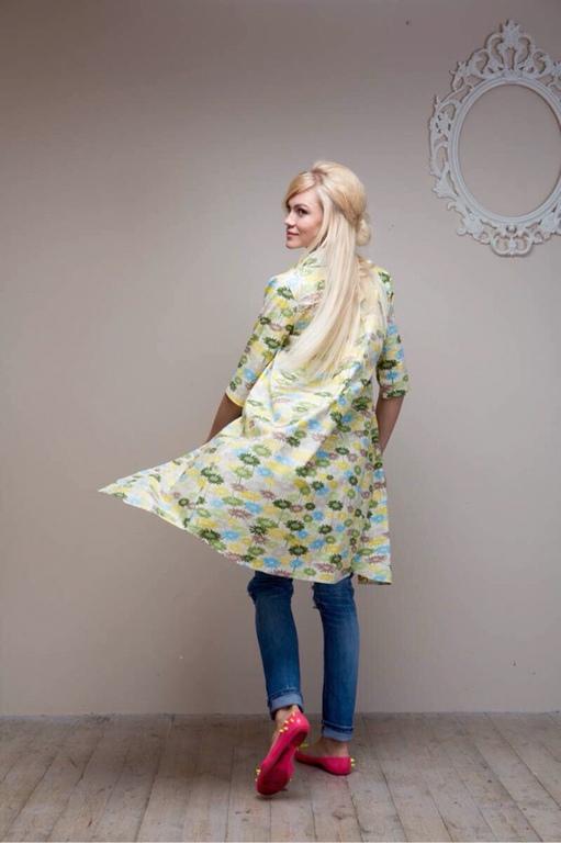 """Платья ручной работы. Ярмарка Мастеров - ручная работа. Купить Платье -рубашка """"Виолла"""". Handmade. Платье летнее, дизайнерская работа"""