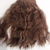 Волосы для кукол ручной работы. Ярмарка Мастеров - ручная работа Волосы для кукол (крашеная козочка) Горячий Шоколад. Handmade.