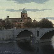 Картины и панно handmade. Livemaster - original item Buy painting online interior Roma. Ponte Principe. Handmade.