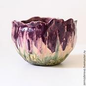 Посуда ручной работы. Ярмарка Мастеров - ручная работа чашка фиолетовый цветок. Handmade.