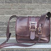 Сумки и аксессуары handmade. Livemaster - original item Women`s bag GALINA made of genuine patent leather plum color. Handmade.