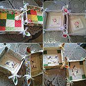 Для дома и интерьера ручной работы. Ярмарка Мастеров - ручная работа Лоскутная корзиночка для сервировки стола. Handmade.