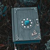 """Гримуар ручной работы. Ярмарка Мастеров - ручная работа Серый кожаный Гримуар """"Небесная дверь"""". Handmade."""